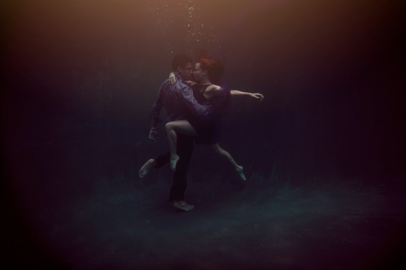 Two Creative Birds Underwater Engagement